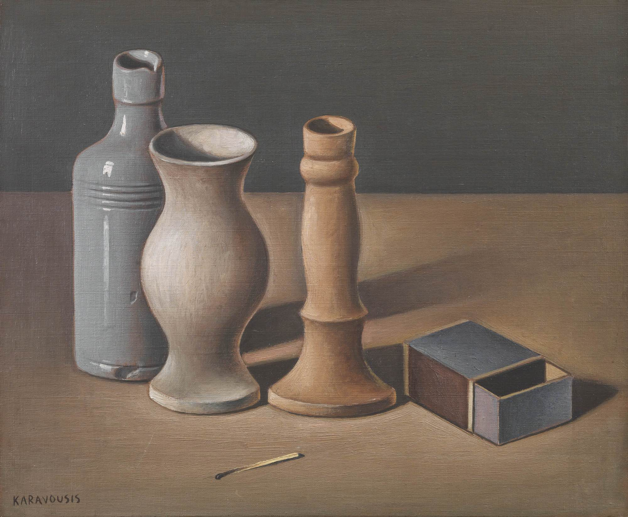 Lot 14 Sarandis KARAVOUSIS | Still life with matchbox