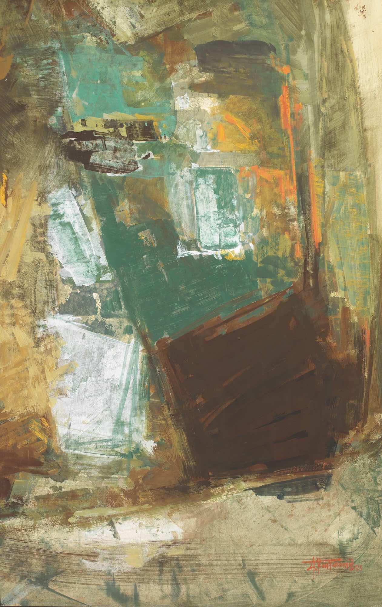 Lot 9 Alecos CONDOPOULOS   Abstract composition