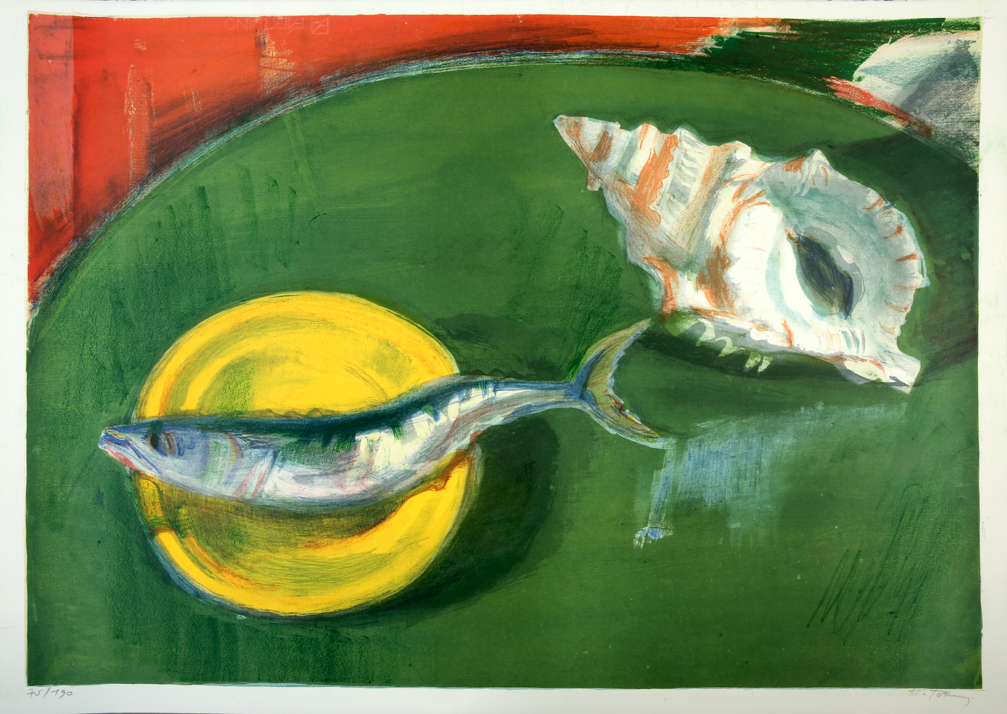 04. Panagiotis Tetsis   Still life with shell and fish