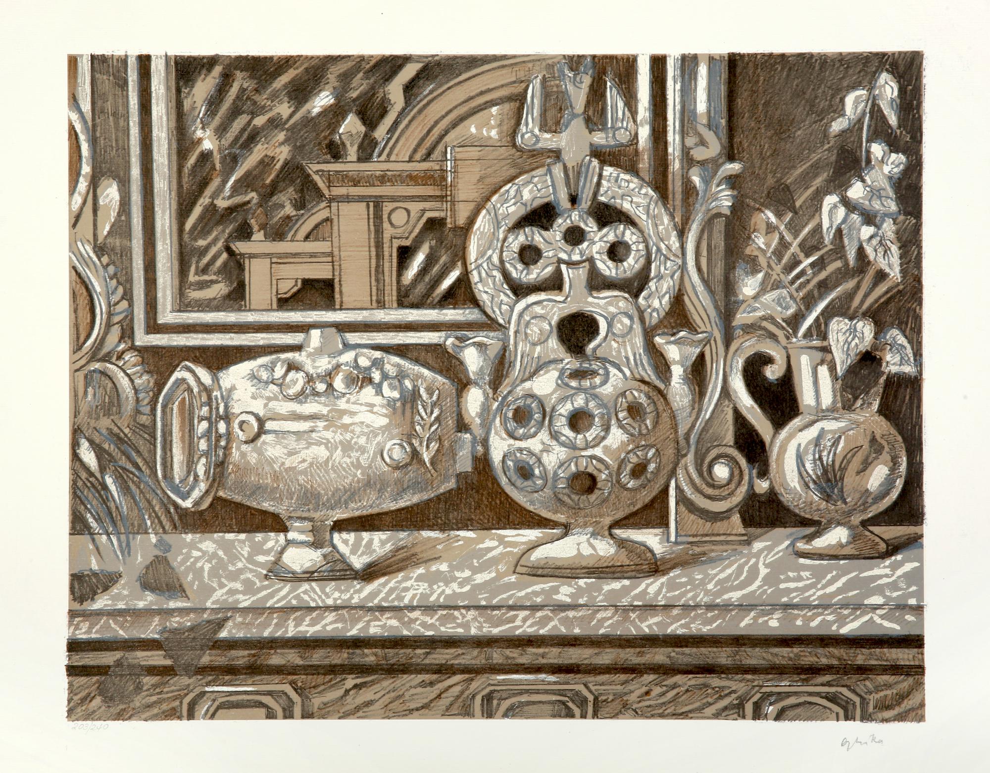 10. Nikos Hadjikyriakos Ghika | Still life with Canakkale pottery