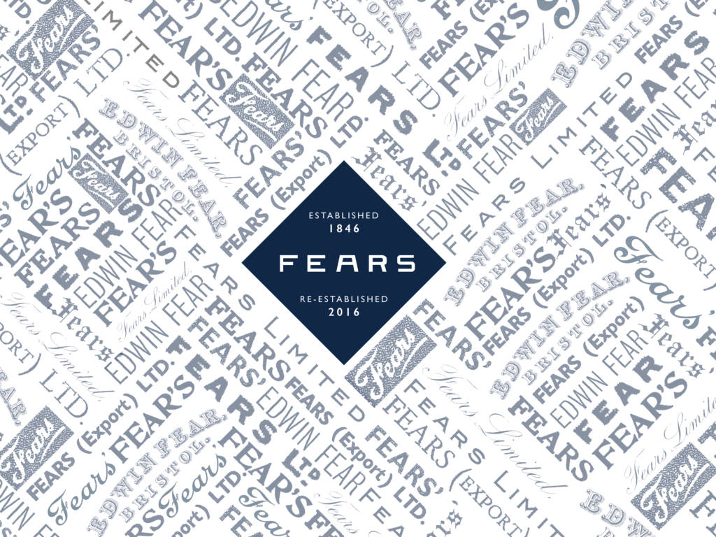 A collage of historic logos showcasing the new FEARS Company branding
