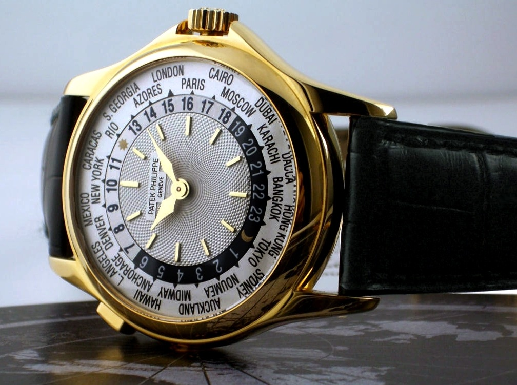 A highly collectable platinum Patek Philippe World Time watch