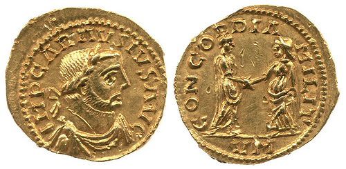 Roman coin similar to the examples you may see in the British Museum
