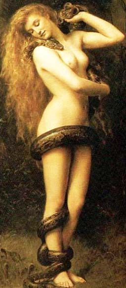 Lilith (1892) by John Collier in the Southport Atkinson Art Gallery