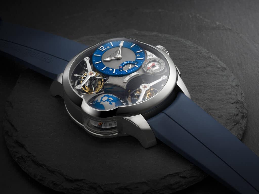 Greubel Forsey's Striking Blue GMT Quadruple Tourbillon