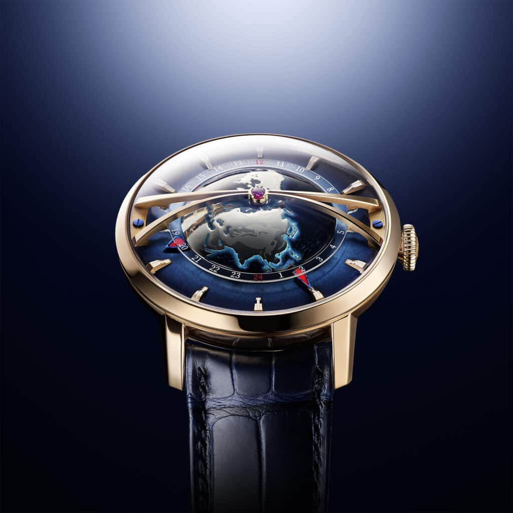 Arnold & Son Span The Globetrotter Gold