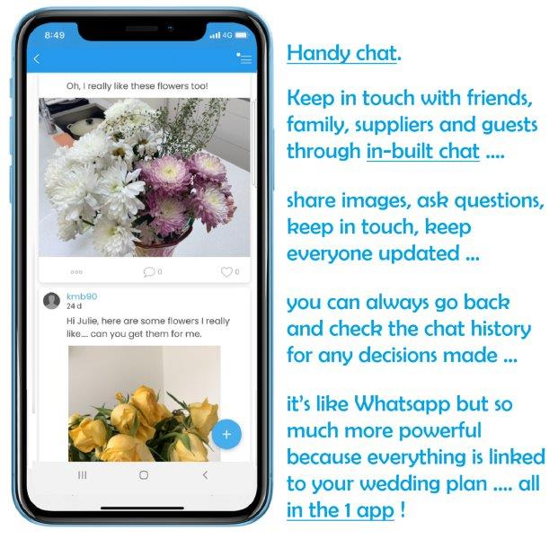 Chat with text