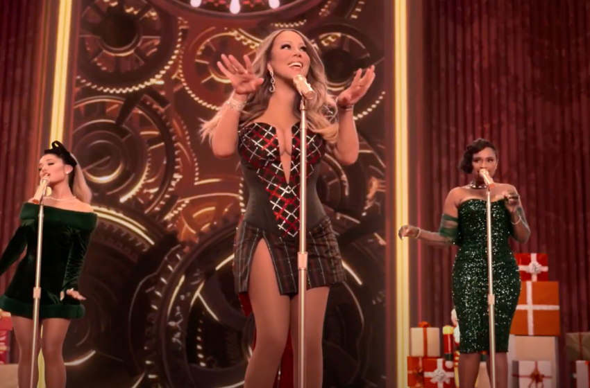 Mariah Carey's Oh Santa! with J-Hud and Ariana is F-E-S-T-I-V-E