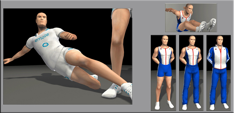 Emote Games Olympic Characters. Design Drawer Studios Character development for Games, marketing and branding. 3D CGI bespoke character design.