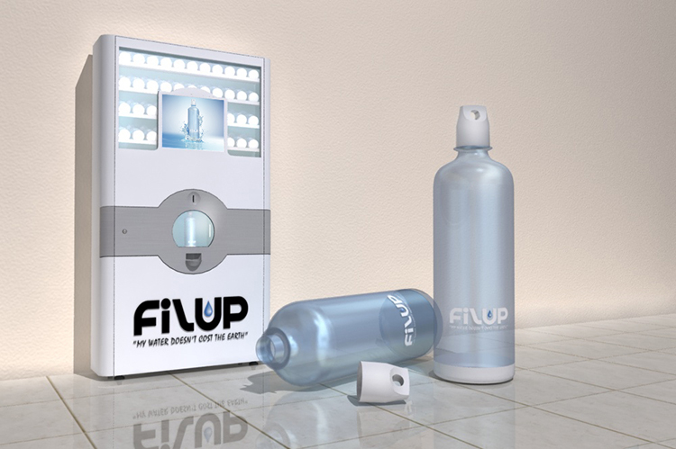 Filup Water Bottle and Dispence Machine Marketing Visual