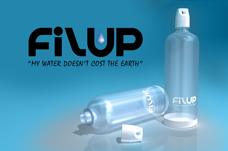 Filup Water Bottle Marketing Visual