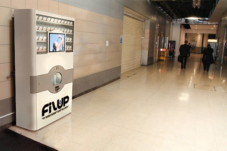 Filup Dispense Cabinet placed in a realistic environment
