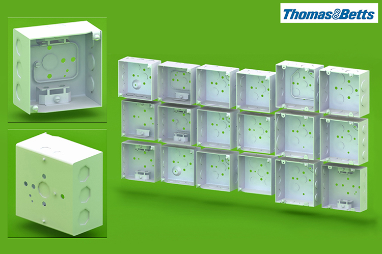 Thomas & Betts Electrical Switch Boxes for their Online Component Catalogue - Product Visualisation Catalogue Services