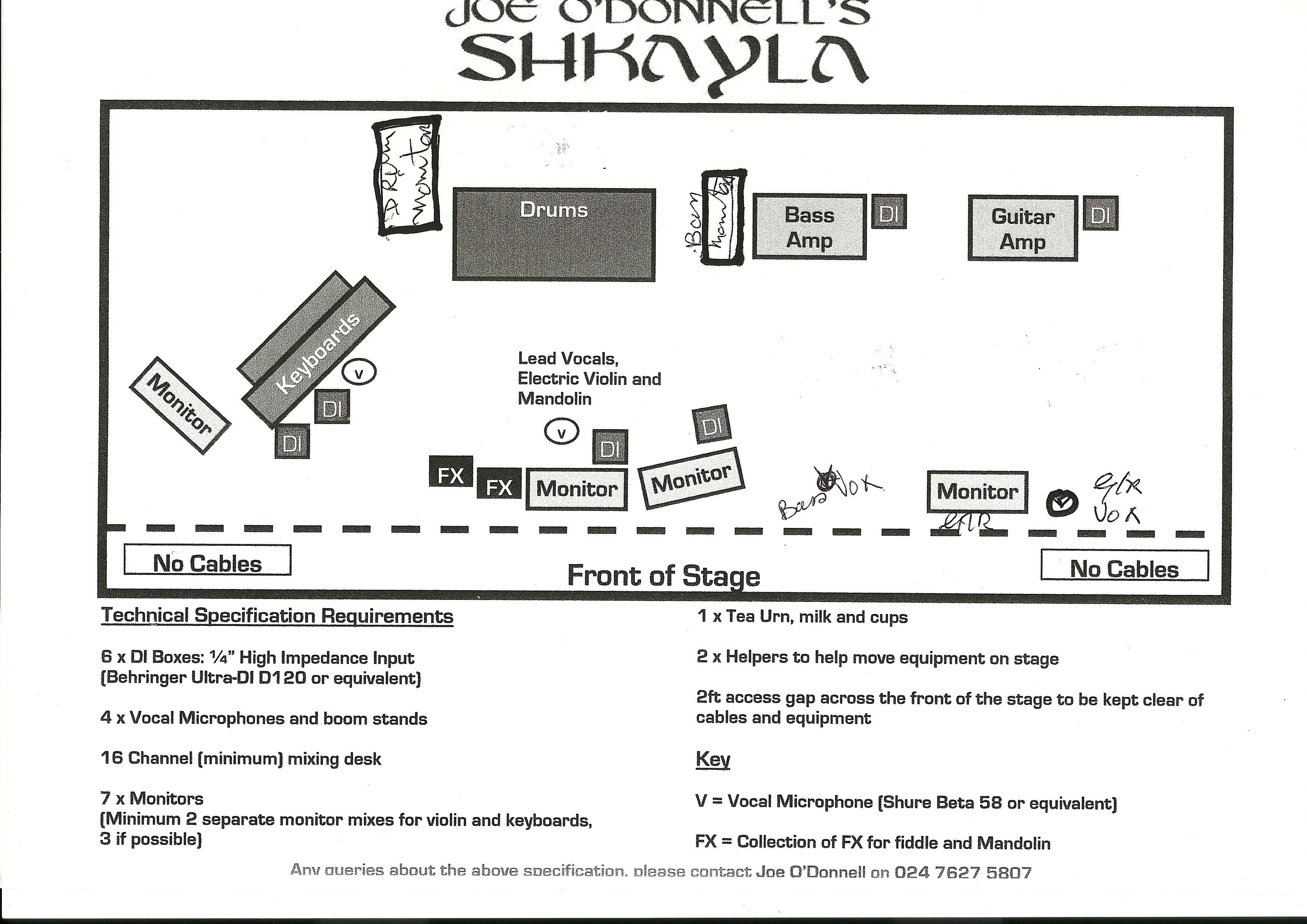 Shkayla stage plan