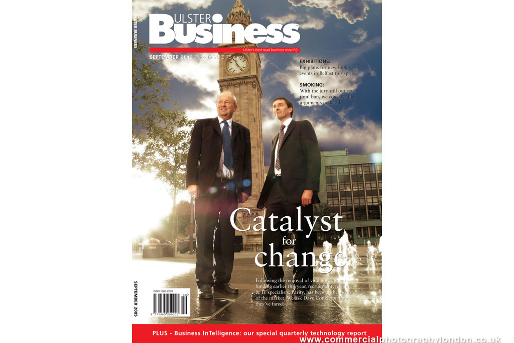 editorial photographer london portrait of business executives for Ulster Business magazine