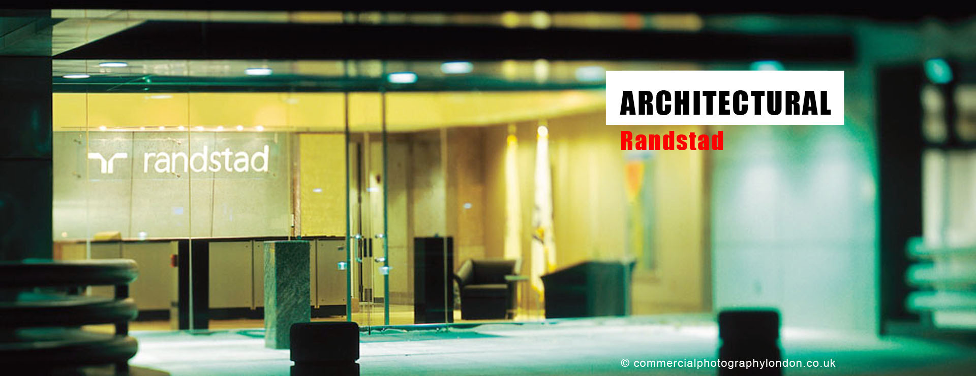 Advertising photographer London architectural photo home page.
