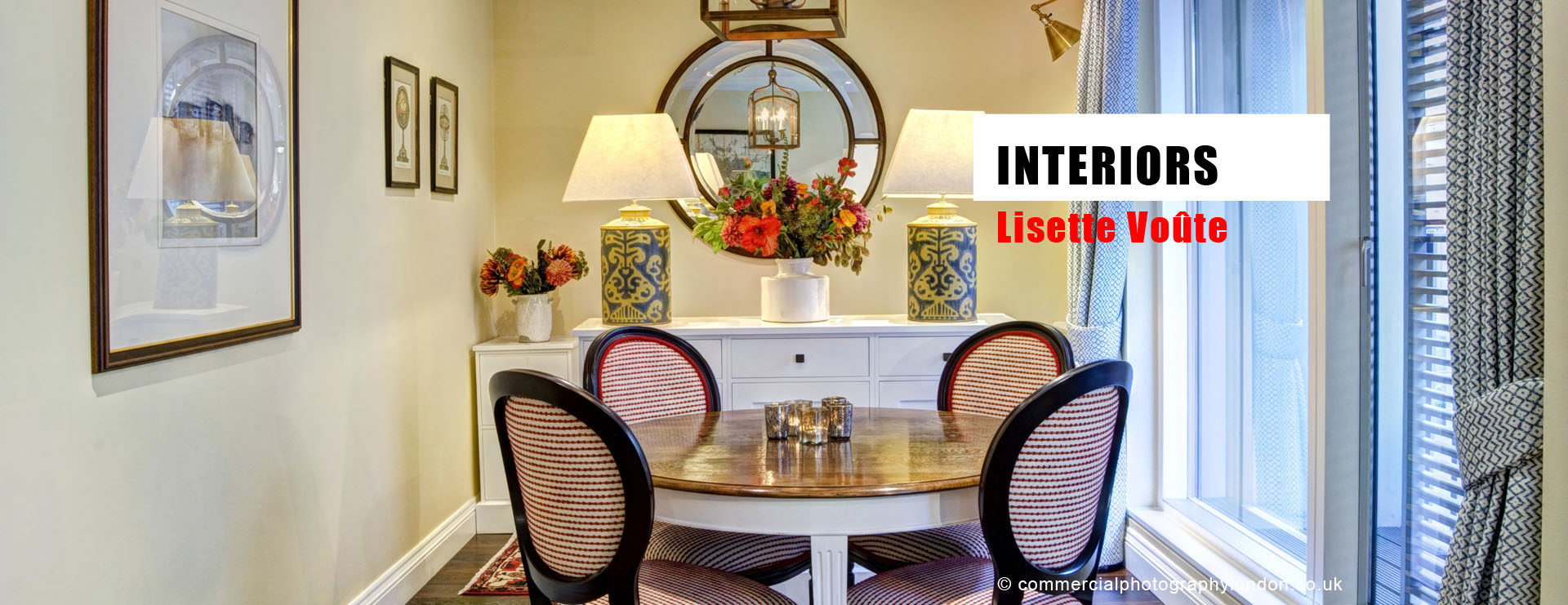 Advertising photographer London interiors photo home page.