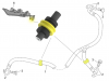 Aprilia Caponord ETV1000 Rally-Raid Brembo P34 brake caliper and Venhill hoses - support location
