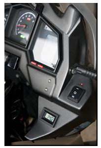 Aprilia Caponord ETV1000 Rally-Raid Datel voltmeter