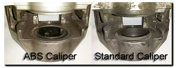 Aprilia Caponord ETV1000 Rally-Raid rear caliper differences ABS standard