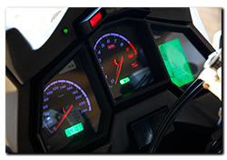 Aprilia Caponord ETV1000 Rally-Raid - Dashboard green LCD panels