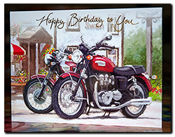 Birthday card from Giu & family