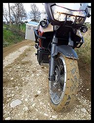 Aprilia Caponord ETV1000 Rally-Raid - muddy tyres!