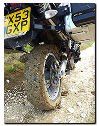 Aprilia Caponord ETV1000 Rally-Raid - slightly clogged tread!