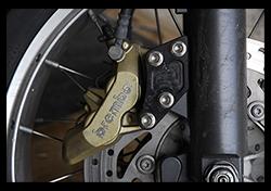 Aprilia Caponord ETV1000 Rally-Raid Brembo P4/34 brake caliper upgrade
