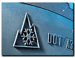 Snowflake symbol on true 'winter' tyres