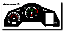 ©Lockwood International 2014 - UK Futura inlay with voltmeter, L&R indicators and sidestand light