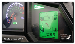 Aprilia Caponord ETV1000 Rally-Raid dashboard - new right-hand indicator repeater!