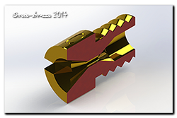 Solidworks model of a #60 Jet sliced in half!