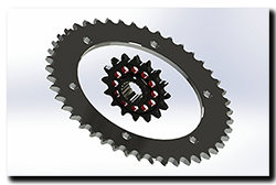 Aprilia Caponord ETV1000 Rally-Raid 16/45t Sprocket pair