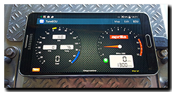 TuneECU app datalog via cable not Bluetooth on Samsung Galaxy Note 3 from Aprilia Caponord ETV1000 Rally-Raid