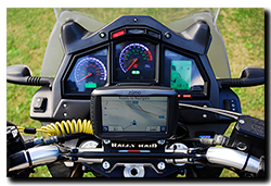 Aprilia Caponord ETV1000 Rally-Raid with Motrag.com base & micro mount for Garmin GPS