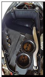 Aprilia Caponord ETV1000 Rally-Raid airbox breather drain