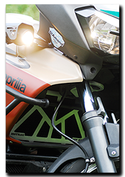 Aprilia Caponord ETV1000 Rally-Raid Motrag radiator protection/guard & fog lamp brackets