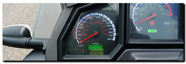 Aprilia Caponord ETV1000 Rally-Raid 100000 miles