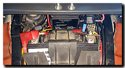 Aprilia Caponord ETV1000 Rally-Raid INNOVV Power Hub 1 installed above battery