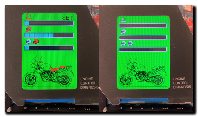 Aprilia Caponord ETV1000 Rally-Raid dashboard improved display graphics