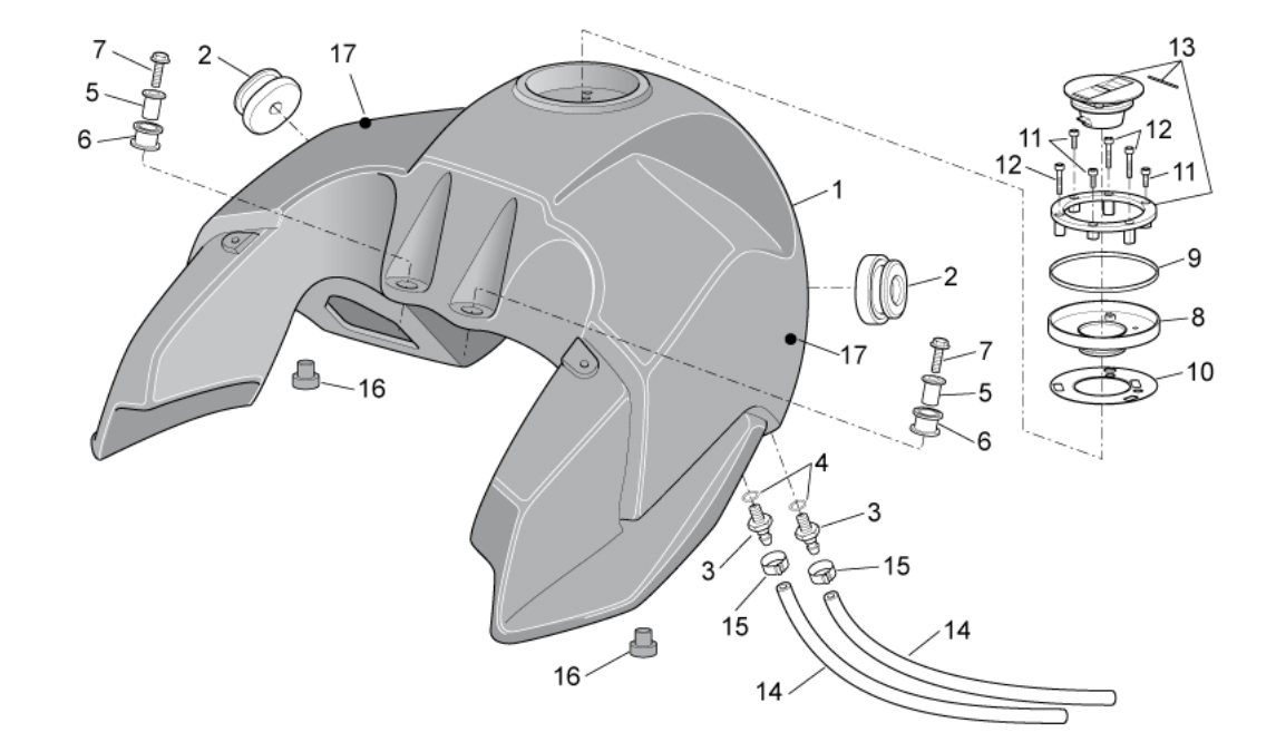 Fuel Tank – clamps