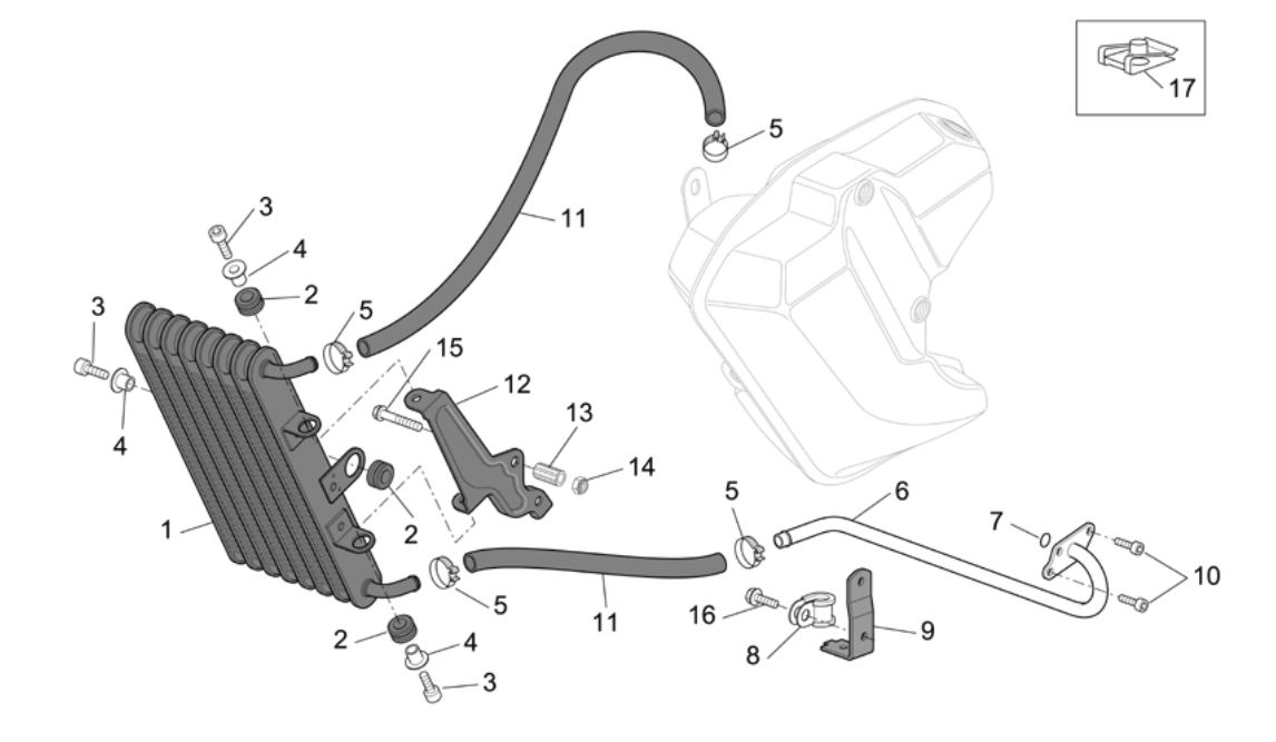Oil Cooler – clamps