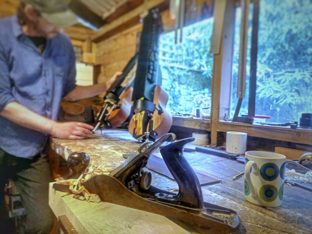 Lutier at work on a Hurdy Gurdy | The Gateway Gurdy