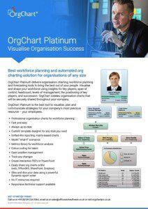 OrgChart Platinum 12 data sheet