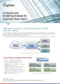 OrgChart 9 Analytics & Modeling