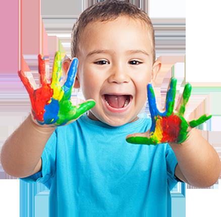 paint-hands-flowerpotsdaynursery