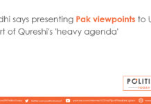 Lodhi says presenting Pak viewpoints to UN part of Qureshi's 'heavy agenda'