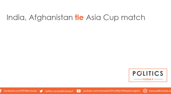 India, Afghanistan tie Asia Cup match
