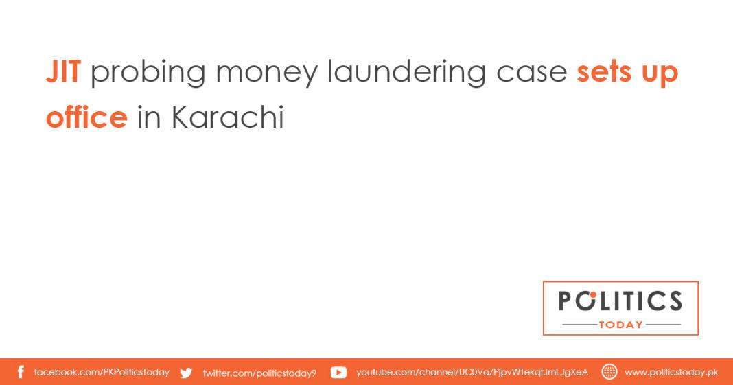 JIT probing money laundering case sets up office in Karachi